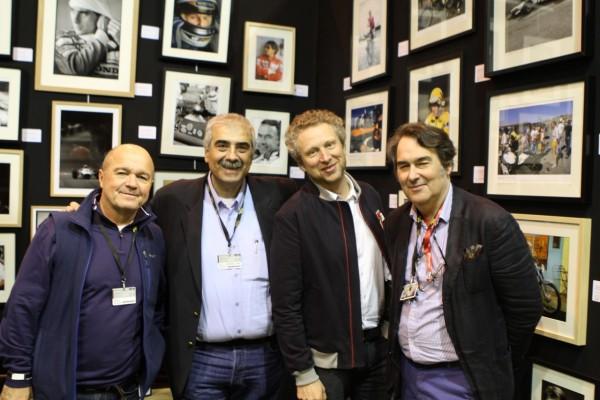 les champions de l'image... Bernie Asset, bernard Bakalian, Philippe Graton le fils (Michel Vaillant) & Bruno des Gayets © Jacques SamAlens