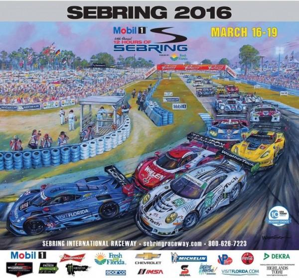12 HEURES DE SEBRING 2016 - Affiche