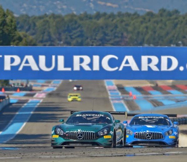 BLANCPAIN 2016 - PAUL RICARD - Essai 9 Mars - Les deux MERCEDES AMG du Team BLACK FALCON - Photo Antoine CAMBLOR.