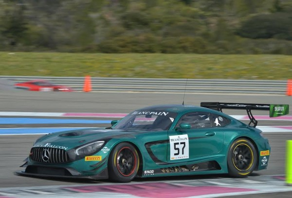 BLANCPAIN-2016-PAUL-RICARD-Essai-9-Mars-MERCEDES-AMG-GT3 du BLACK FALCON-Photo Antoine CAMBLOR