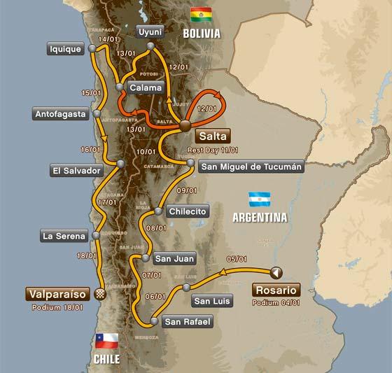 DAKAR-2014-Le-parcours