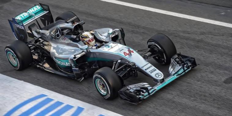 F1 2016 - MONTMELO - Jeudi 25 Fevrier -La MERCEDES W07 de LEWIS HAMILTON   -Photo ANTOINE CAMBLOR
