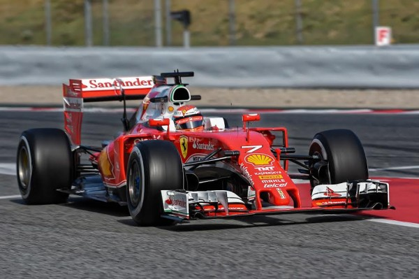 F1 2016 MONTMELO - Jeudi 3 mars-FERRARI KIMI RÄIKKONEN - Photo ANTOINE CAMBLOR.
