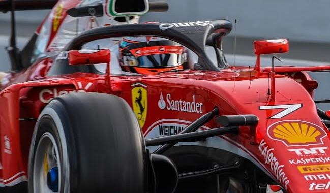 F1-2016-MONTMELO-Jeudi-3-mars-La-FERRARI-de-KIMI-RÄIKKONEN-TESTE-LE-SYSTEME-DE-PROTRECTION-DU-COCKPIT-PILOTE-Photo-ANTOINE-CAMBLOR