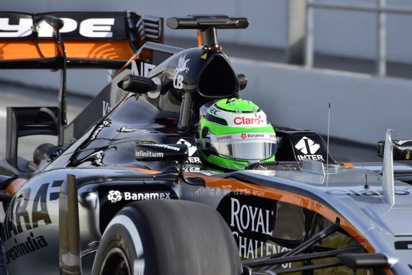 F1 2016 - MONTMELO - Mercredi 24 Fevrier - FORCE INDIA MERCEDES de NICO HÜLKENBERG -Photo Max MALKA