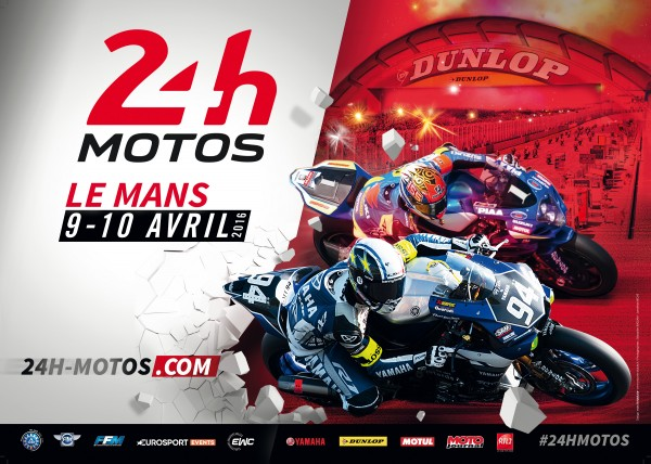 MOTO 2016 - 24 HEURES DU MANS Affiche