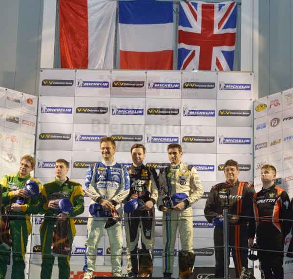 VdeV 2016- MONTMELO - Le podium des GT-LMP3 Samedi 19 Mars -Photo Antoine CAMBLOR