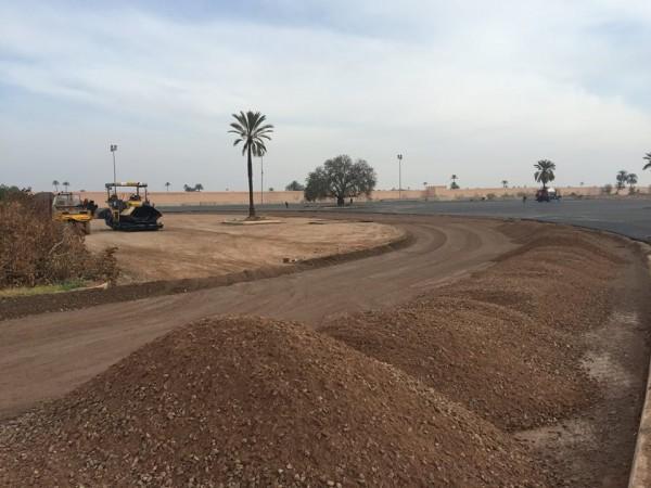 WTCC-2016-Les travaux avancent pour le nouveau tracé du circuit de MARRAKECH