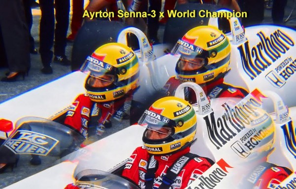 Ayrton Senna-Triple Champion du Monde-© Manfred GIET.