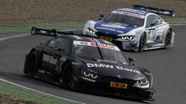 DTM-2016-HOCKENHEIM-Essais-privés-mardi-5-Avril-La-BMW-du-Brésilien-Augusto-FARFUS-devant-celle-de-Tom-BLOMQVIST