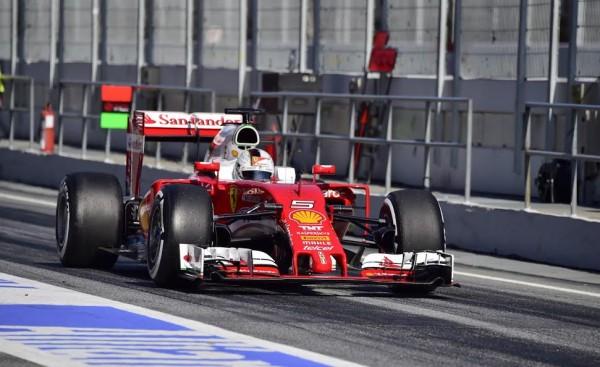 F1 2016 -MONTMELO - Mercredi 2 mars -FERRARI de SEB VETTEL - Photo - Max MALKA.