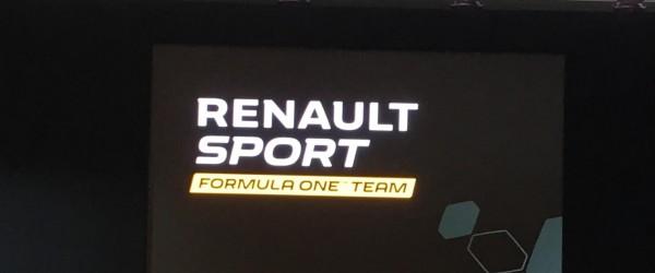 F1 2016 Présentation Equipe RENAULT F1 - LE nouveau logo