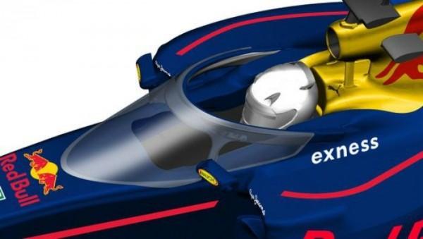 F1 2016 SOTCHI -RED BULL VA TESTER LE COCKPIT FERME CANOPE