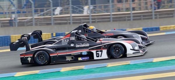Le Mans V de V 23 Avril 2016 belle passe d'armes entre protos du Team One, le N°67 des STRIEBIG et RAFFIN et N°23 DB Autosport de AIMARD, DURRICK, JARNO.