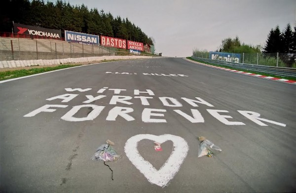 Le Raidillon à Spa après la disparition tragique d'Ayrton SENNA-© Manfred GIET