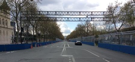 Ligne de départ Boulevard des Invalides à la hauteur de la Rue de Varenne