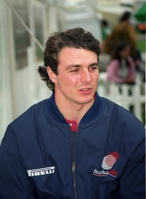 Mark BLUNDELL à ses débuts en F-1 en 1991-© Manfred GIET.