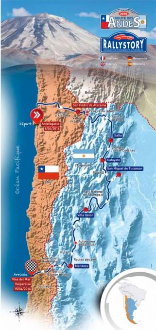 ROUTE DES ANDES 2016 Le parcours