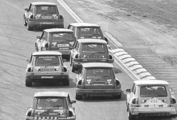 S.BELLOF-Coupe Elf Renault 5 Turbo-Hockenheim 1981 en 4éme position avec Insscription GELO à l'arrière© Manfred GIET