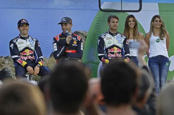 WRC 2016 ARGENTINE Les trois premiers au classement provisoire PADDON OGIER MIKKELSEN.