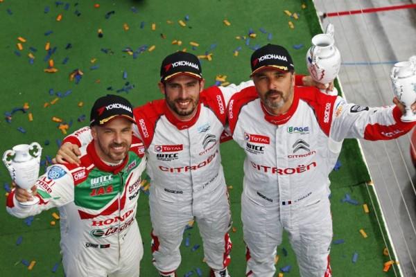WTCC-2016-BUDAPEST-Trois-pilotes-CITROEN-Jose-Maria-LOPEZ-Mehdi-BENNANI-et-Yvan-MULLER