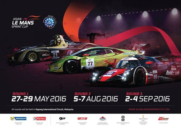 ASIAN LE MANS SPRINT CUP 2016 - LE CALENDRIER
