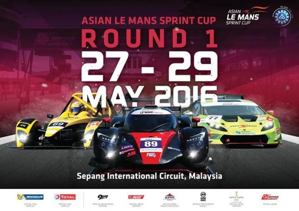 ASIAN LE MANS SPRINT CUP 2016 SEPANG -Affiche