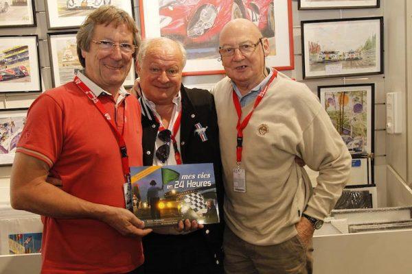 DANIEL POISSENOT et MICHEL BONTE avec GILLES GAIGNAULT pour la sortie du livre MES VIES EN 24 HEURES Photo Thierry COULIBALY