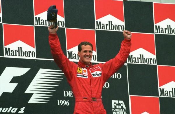 F1 1996 - Michael Schumacher-GP d'Espagne en 1996 où il fête sa toute 1ére victoire chez Ferrari-© Manfred GIET