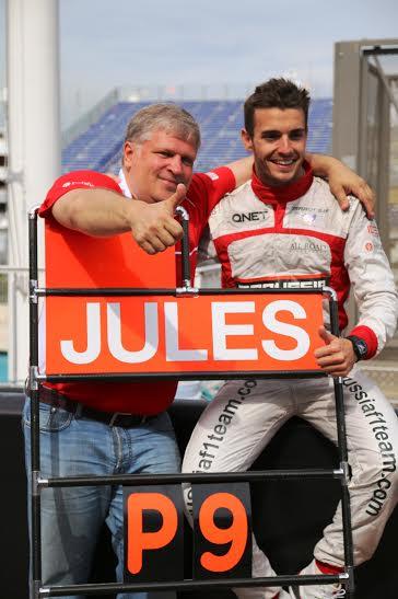 F1-2014-MONACO-JULES-BIANCHI-pose-apres-l-arrivee-P9-Photo-Jean-Francois-THIRY
