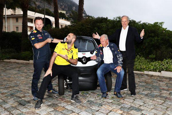 F1 2016 A MONACO Annonce le 28 Mai de la prolongarion du pzrtenariat entre RENAULT et RED BULL.