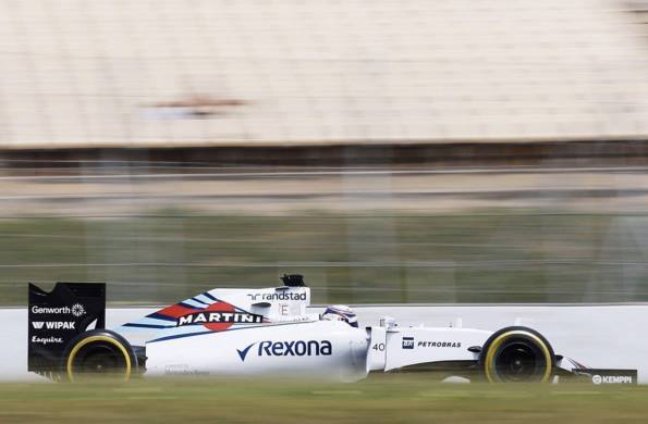 F1 2015 - Alex LYNN en essai au volant de la Williams FW38