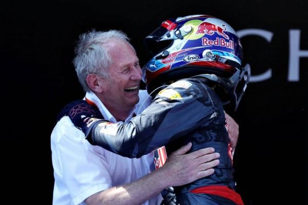 F1-2016-BARCELONE-MAX-VERSTAPPEN-Victorieux-devient-le-plus-jeune-pilote-vainqueur-dun-GP-de-F1-avec-le-Docteur-MARKO.