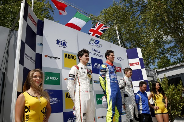 F3 EUROPE 2016 - GP PAU - Le podium de la 3éme course avec LORANDI victorieux - Photo Nicolas PALUDETTO