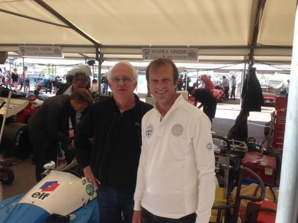 GP MONACO Historique 2016 - le stand de la MATRA MS120 d'Anthony BELTOISE ex JPB ici avec Michel MALLIER