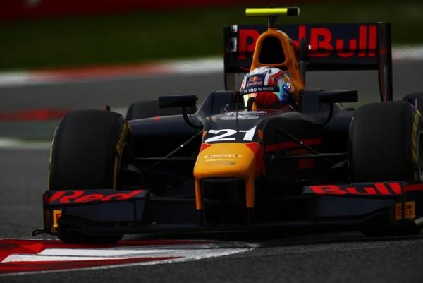 GP2 2016 BARCELONE PIERRE GASLY du PREMA en pole le 13 Mai