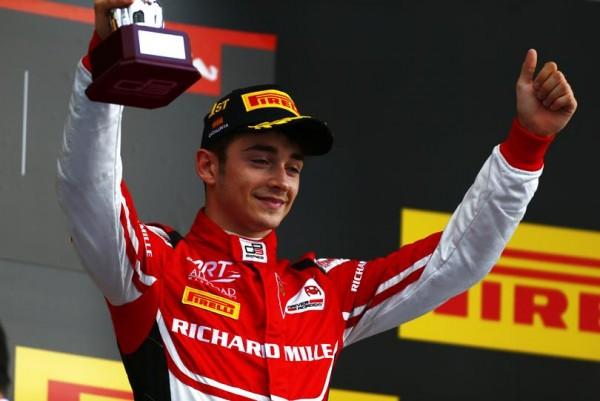 GP3-2016-BARCELONE-CHARLES-LEVCLERC-1er-vainqueur-2016. et leader  su championnat