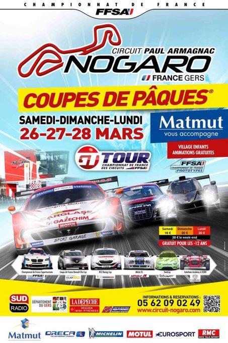 GT TOUR 2016 - COUPES DE PAQUES a NOGARO - AFFICHE