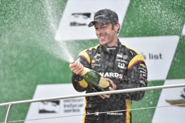 INDYCAR 2016 SIMON PAGENAUD celebre sa victoire dans le GP d'INDIANAPOLIS