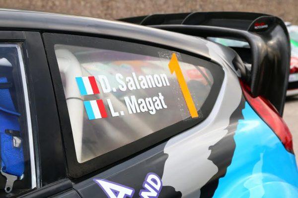 Rallye d'Antibes 2016 - David SALANON N°1 sur la voiture et aussi sur le podium - Photo Jean-François THIRY