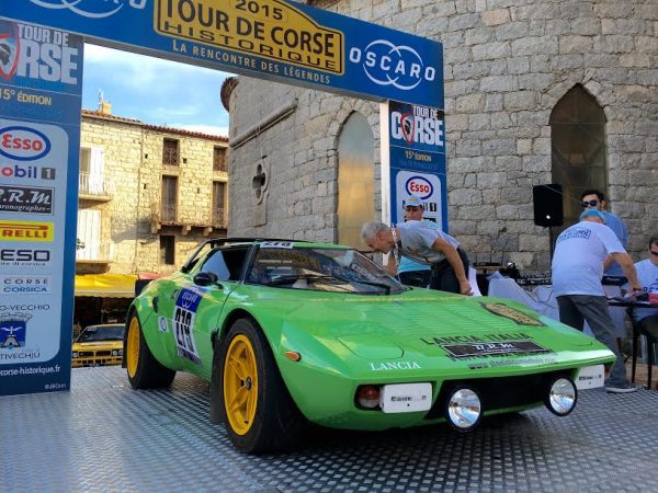 TOUR DE CORSE HISTORIQUE 2015 - La LANCIA STRATOS HF de STANISLAS MACHOIR et PAUL ROYEN Photo AUTONEWSINFO.