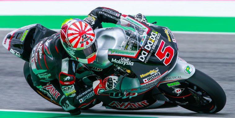 victoire de JOHANN ZARCO en  MOTO 2 au GP d'ITALIE au MUGELLO le 22 Mai