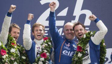 24 HEURES du MANS 2016 - 1ére place sur le podium pour l'équipage ALPINE SIGNATECH N°36 LAPIERRE-RICHELMI-MENEZES.