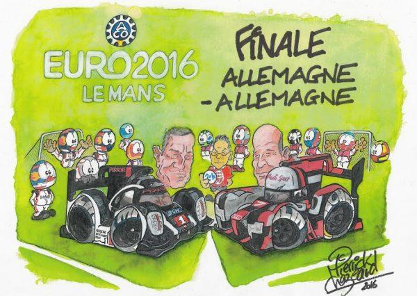 24-HEURES-du-MANS-2016-Dessin-AUDI-PORSCHE-de-PIERRICK-CHAZEAUD
