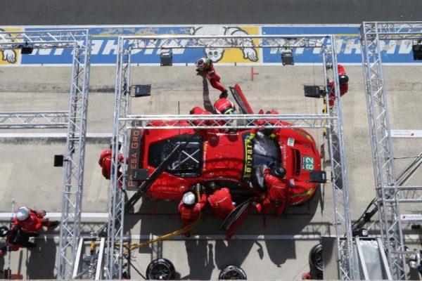 24 HEURES du MANS 2016 debut de course compliquee pour la FERRAR F488 du RISI.