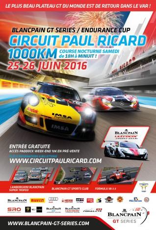 BLANCPAIN 2016 LES 1000 km du PAUL RICARD -Affiche