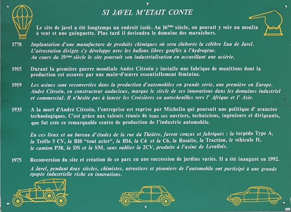 MUSEE CITROEN - plaque explicative histoire CITROEN - Photo Gilles VITRY.J