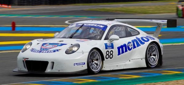 ROAD-TO-LE-MANS-La-PORSCHE-911-GT3R-de-Egidio-PERFETTI-et-Klaus-BACHLER-Photo-Thierry-COULIBALY