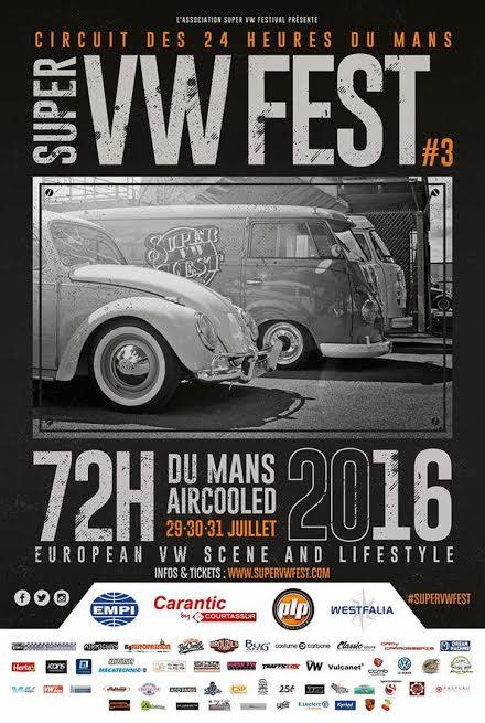 Super VW Fest - L'affiche de l'évènement -