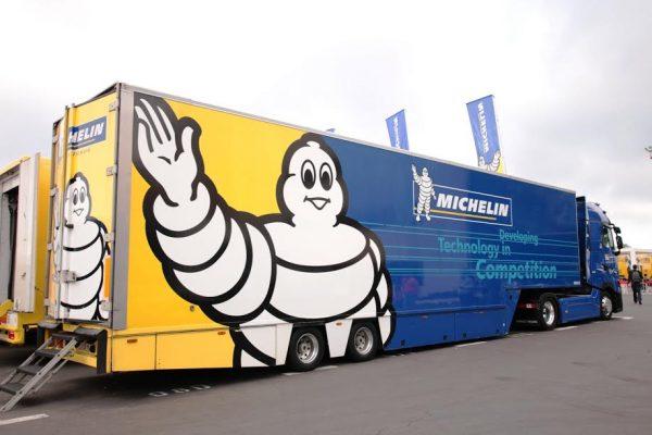 WEC 2016-PAUL RICARD samedi 26 mars 2016 les transporteurs Michelin photo Jean-François THIRY.